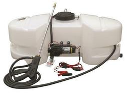 Large 25 Gal Spot Sprayer Kit 2.1 GPM Pump Deluxe Wand ATV L